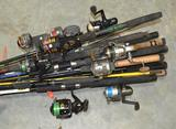 Fishing Pole Collection with Reels