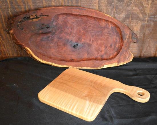 Handmade Mesquite Pieces - Cutting Boards/Serving Trays, 2 Pieces Total