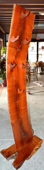 Handmade Mesquite Standing Hat/Gun Rack
