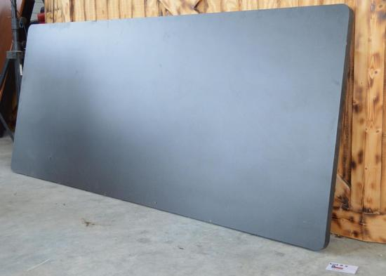 """Black Formica Table TOP - *Top Only* 7ft x 3ft x 1 1/2"""""""