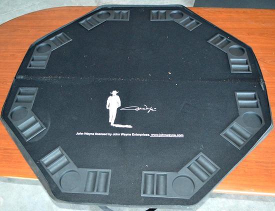 John Wayne Portable Poker Table in Carrying Case