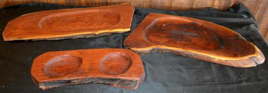Handmade Mesquite Pieces - Cutting Boards/Serving Trays, 3 Pieces Total
