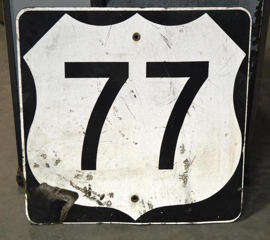 Highway 77 Metal Sign