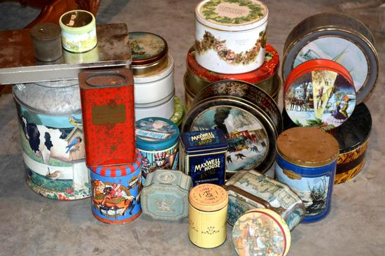 Collection of 24 Tins