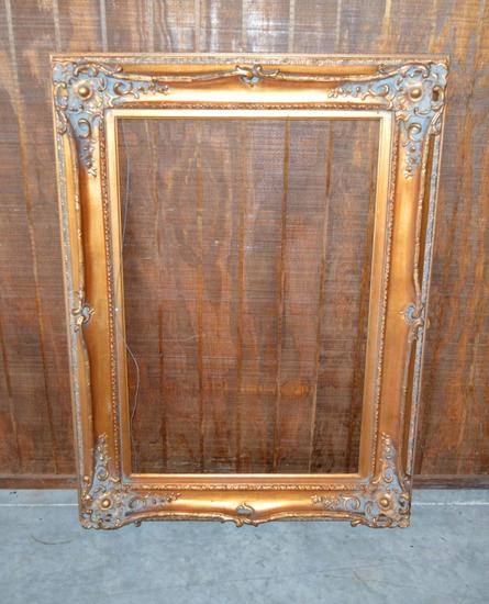 Large Gold Frame w/ Hanging Wire