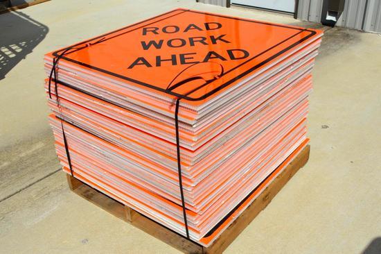 "35 ""Roadwork Ahead"" Signs"
