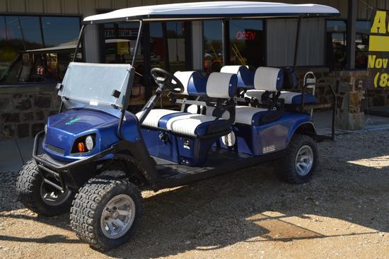 EZ-GO Express L6 Golf Cart Gasoline 6-Seater, Street Legal