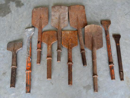 Jack Hammer Drill Bits - Chisels/Shovels - 10 Total