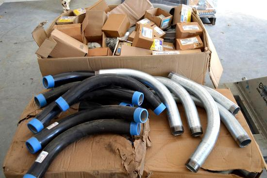 Pallet of Various Fittings - coated and galvanized elbows