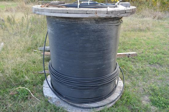 Spool of Fiber Optic Cable