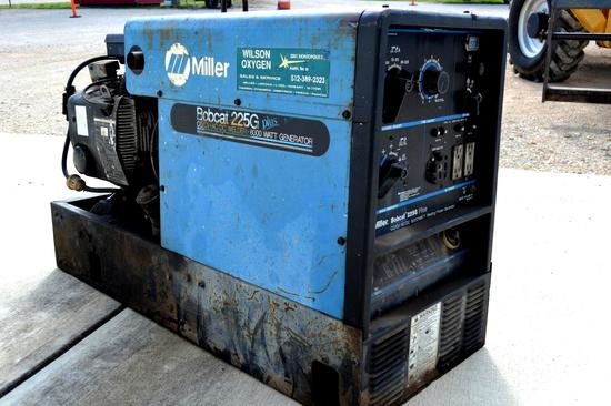 Miller Bobcat 225G Plus Welder, Onan P216 Gas Engine, 8000 Watt Generator