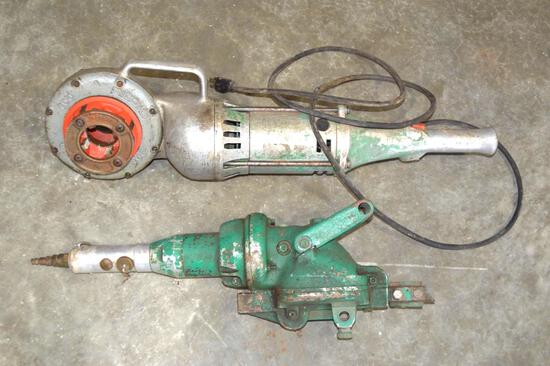 Ridgid Electric Pipe Threader and Pneumatic Cutter
