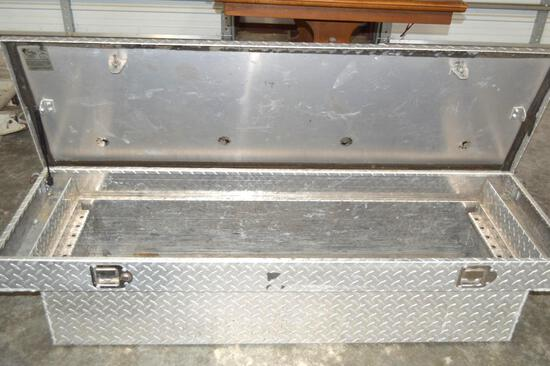 """Diamond Plated Truck Tool Box 5' length w/ 55"""" set in bed/18"""" wide"""
