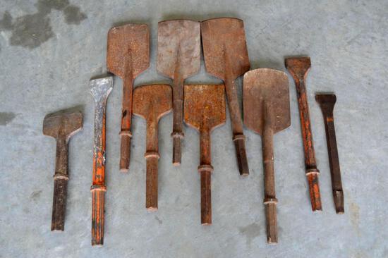 Jackhammer Drill Bits - Chisels/Shovels - 10 pieces total