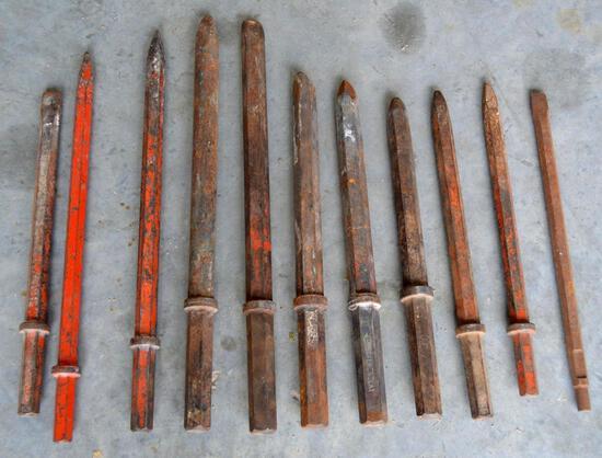 Jack Hammer Drill Bits - 11 Total
