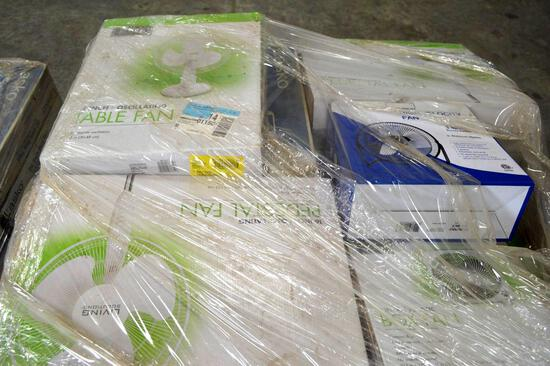 Pallet of Electric Fans - Assorted models/brands