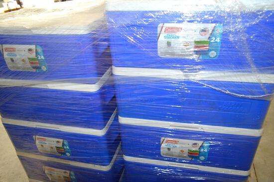 Pallet of Coleman Party Stacker Coolers