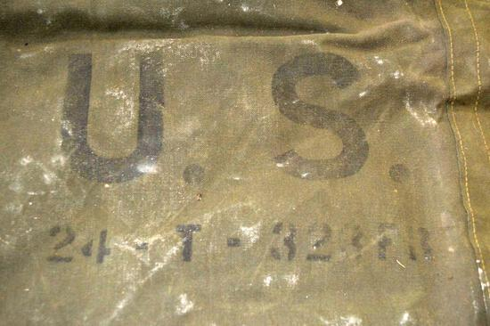 Army Issued Surplus From WWII - US Army Tent 24-T 309, Cot, Wool Blankets, Pup Tent Set