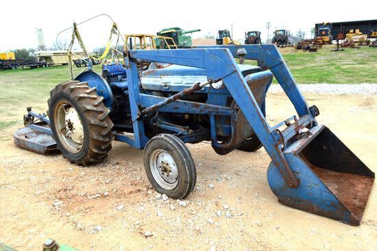 Ford 600 2WD Diesel Tractor w/ Bushhog Shredder