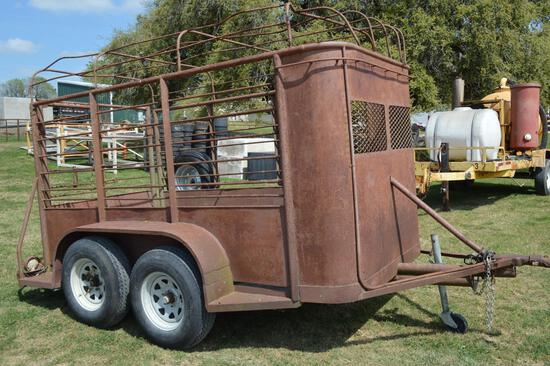 16' 3-Axle Equipment/Utility Trailer with ramps