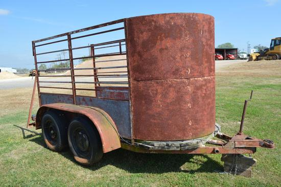 2004 Big Tex 16' Flatbed, Pintle Hitch Trailer