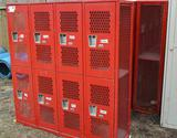 Set of 5 (8 lockers per set) Super Lockers List Industries Lockers