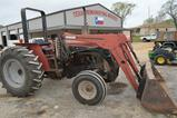 Case International 495 2WD Diesel Tractor w/ Front End Loader