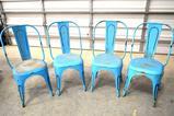 Set of 4 Retro Metal Chairs