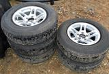 Boat Trailer Wheels and Tires - 5 Total, 205/75 R14