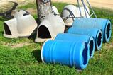 Igloo Dog Houses and Barrels