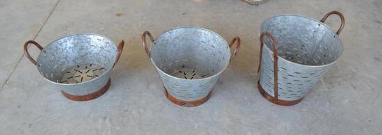 3 Olive Pots - 3 Sizes/planting/decoration/garden