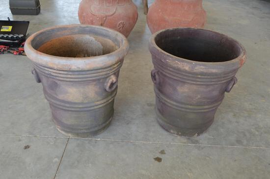 2 Large/Tall Terra Cotta Pots - same size