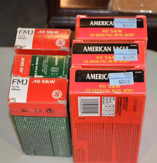 Mix of .40 S&W Ammo