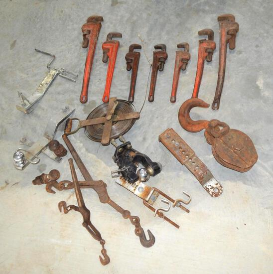 Assorted Wrenches and Gauge