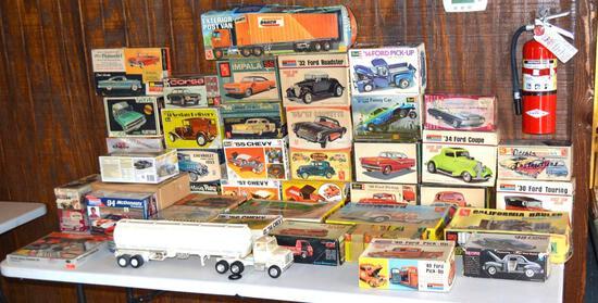 Vintage Collectible Model Car Kits