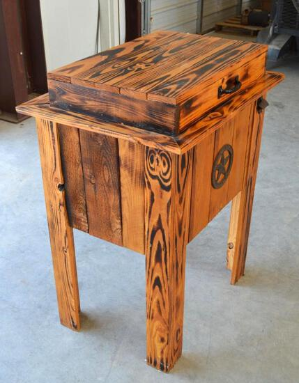 Rustic Wooden Cooler/Ice Chest on Legs