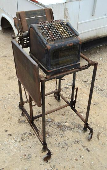 Antique/Vintage Burroughs Adding Machine and Stand