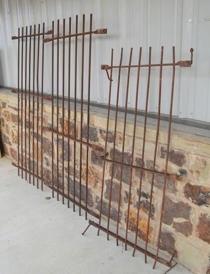 Original Antique Iron County Jail Cell Bars