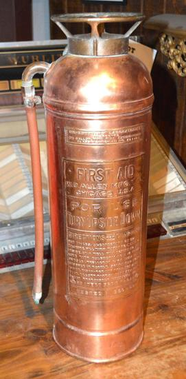 W.D. Allen MFG Copper Fire Extinguisher