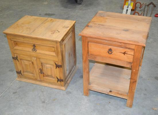 (2) Rustic End Tables