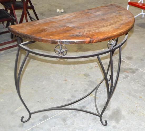 Rustic Half Moon Hall Table