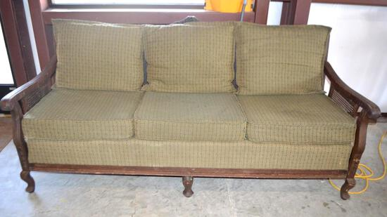 Vintage Cane Back Couch