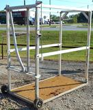 Aluminum Cattle Grooming Chute, 6' x 6' x 3'