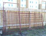 (1) 12' Portable Panel & (1) 12' Portable Panel W/Walk Through Gate