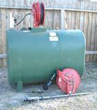 300 Gal Pee-Dee Oil Tank W/Pump & Hose Reel