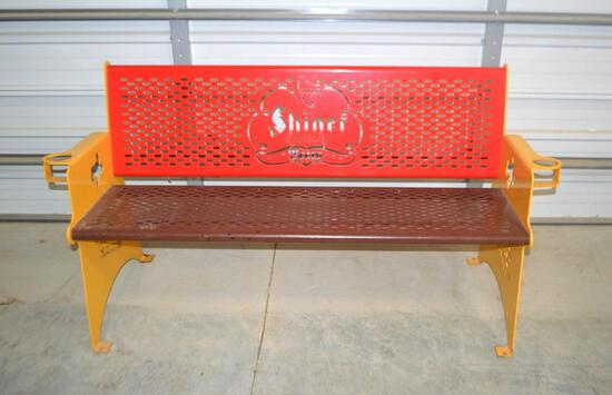 Metal Shiner Beer Bench
