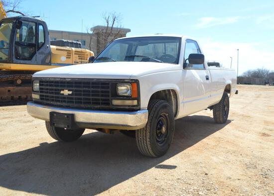 1991 Chevrolet C2500 Pickup Truck, VIN # 1GCGC24K5ME199259