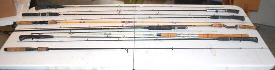 Lot Of (12) Various Fishing Rods