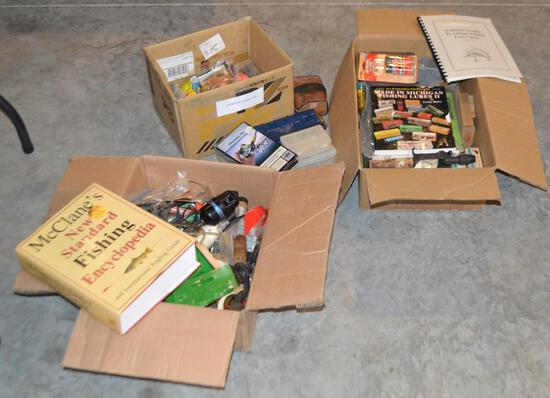 3 Boxes Of Misc Fishing Tackle