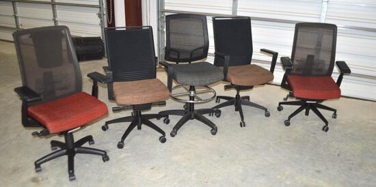 5 Rolling Office Chairs